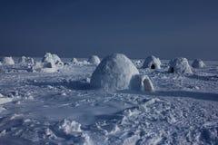 igloo Деревня эскимосов Стоковая Фотография RF