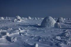 igloo Деревня эскимосов Стоковые Изображения