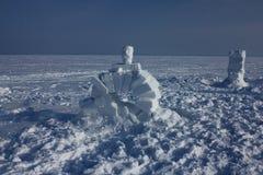 igloo Деревня эскимосов Стоковая Фотография