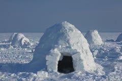 igloo Деревня эскимосов Стоковое Изображение