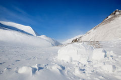 Igloo. In a winter mountain setting Stock Photography