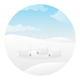 Igloo. Arctic landscape Stock Photos