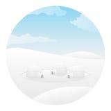 Igloo. Arctic landscape Stock Photos