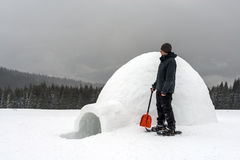 Igloo. Building in the high mountain Stock Image