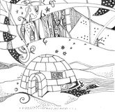 Igloo for children`s winter games in the open air Royalty Free Stock Image
