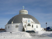 Igloo Church, Inuvik. Our Lady of Victory, Igloo Church, Inuvik, Northwest Territories in the Canadian Arctic Stock Photography