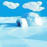 Igloo and climate change Stock Photo