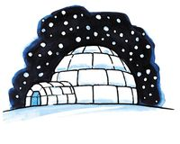 Igloo da neve Fotos de Stock Royalty Free