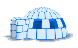 Igloo de neige, illustration de vecteur Photos stock