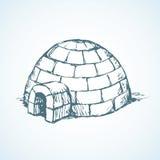 igloo Desenho do vetor Fotografia de Stock