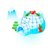 Igloo do Natal Fotos de Stock Royalty Free