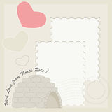 Igloo greeting card Stock Photos