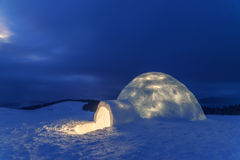 Igloo. In the high mountain Stock Photo