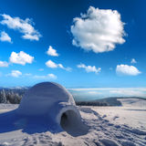 Igloo. In the high mountain Royalty Free Stock Photos