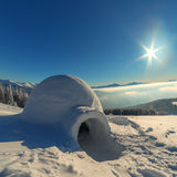 Igloo. In the high mountain Royalty Free Stock Photo