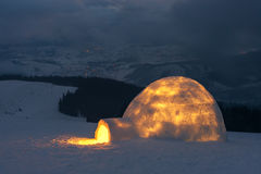 Igloo. In the high mountain Royalty Free Stock Photography
