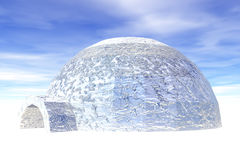 Igloo in ice. Royalty Free Stock Image