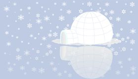 Igloo on ice with snow . Stock Photography