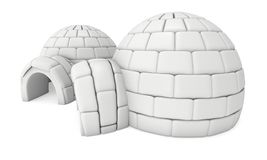 Igloo icehouse 3D Fotografia Royalty Free