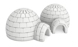 Igloo icehouse 3D Fotografia Stock