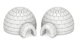 Igloo icehouse 3D Obrazy Stock