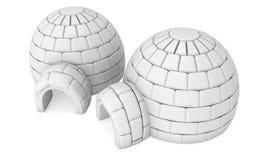 Igloo icehouse 3D Zdjęcia Royalty Free