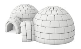 Igloo icehouse 3D Obraz Royalty Free