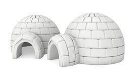 Igloo icehouse 3D Zdjęcie Royalty Free