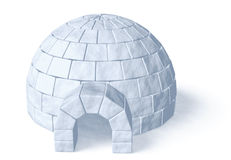 Igloo icehouse on white Royalty Free Stock Photo