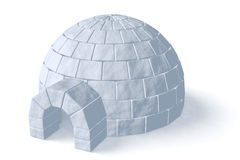 Igloo icehouse on white Stock Image