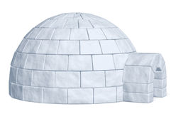 Igloo icehouse on white side view Royalty Free Stock Photography