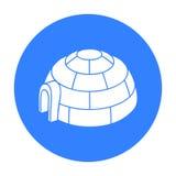 Igloo ikona odizolowywająca na białym tle Ośrodka narciarskiego symbolu zapasu wektoru ilustracja Obrazy Stock