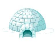 igloo Ilustração fria gelada do vetor da casa ou da casa do gelo Fotos de Stock Royalty Free