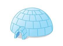 Igloo. Image of blue cartoon igloo Stock Images