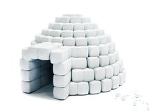 Igloo isolated Royalty Free Stock Images