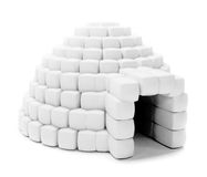 Igloo isolated Royalty Free Stock Image