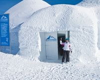 Igloo in the mountains, Royalty Free Stock Images