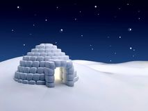 Igloo at night Royalty Free Stock Photos