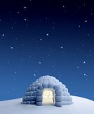 Igloo at night Royalty Free Stock Image