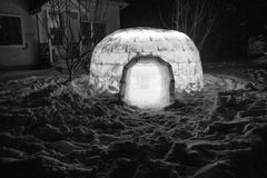 Igloo at night Royalty Free Stock Photography