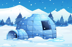 Igloo in the north pole Stock Image