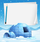 Igloo and papers Stock Images