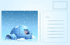 Igloo postcard Royalty Free Stock Image