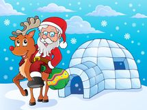 Igloo with Santa Claus theme 2 Stock Image