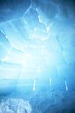 igloo tła wnętrze Zdjęcia Royalty Free