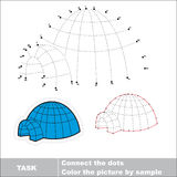 Igloo to be traced. Vector numbers game. Royalty Free Stock Photo