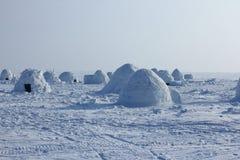igloo Village d'Esquimaux Image libre de droits