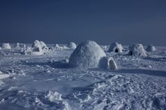 igloo Village d'Esquimaux Photographie stock libre de droits