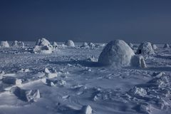 igloo Village d'Esquimaux Images stock