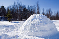 Igloo in Winter. An igloo in a winter landscape Stock Photo